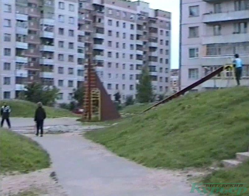 1997 год. Двор дома по Чкалова, 25 корпус 3