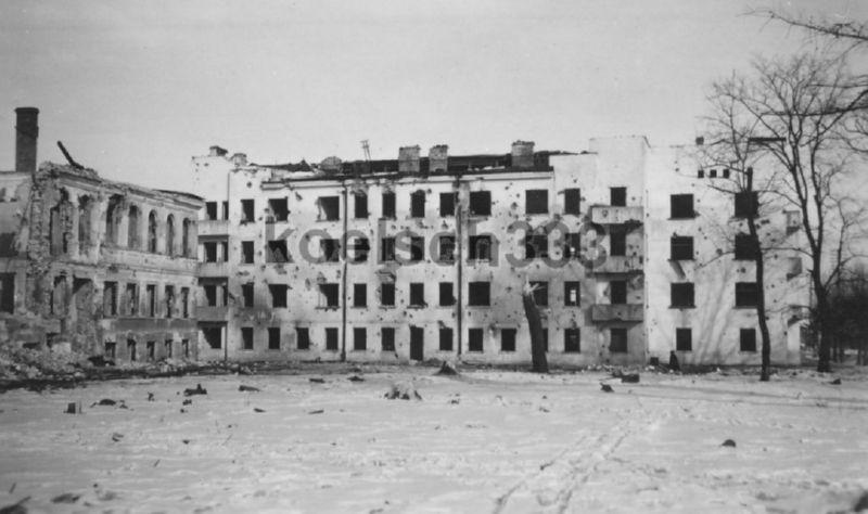 Разрушенный в войну 4-й коммунальный дом