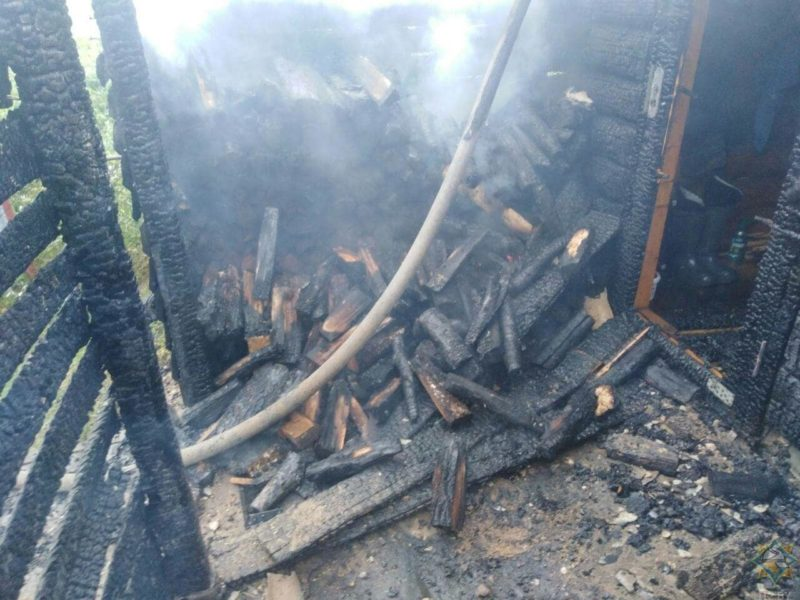 Браславский район пожар бани