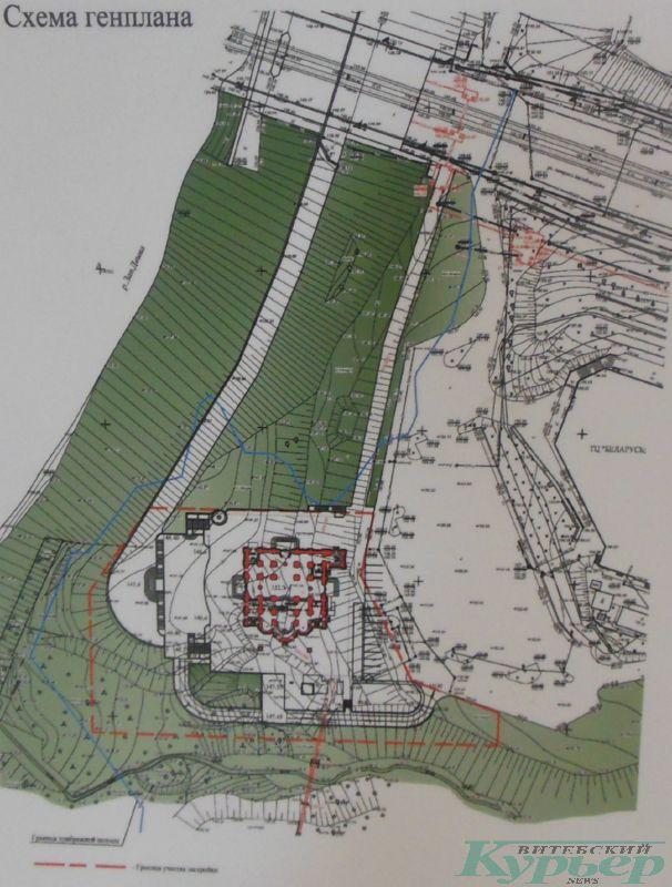 Проект размещения Софийского собора на берегу Двины