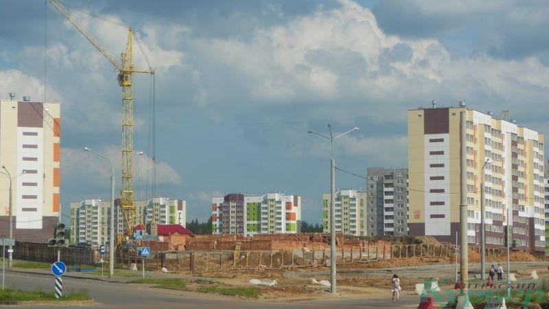 Строительство костела в Билево