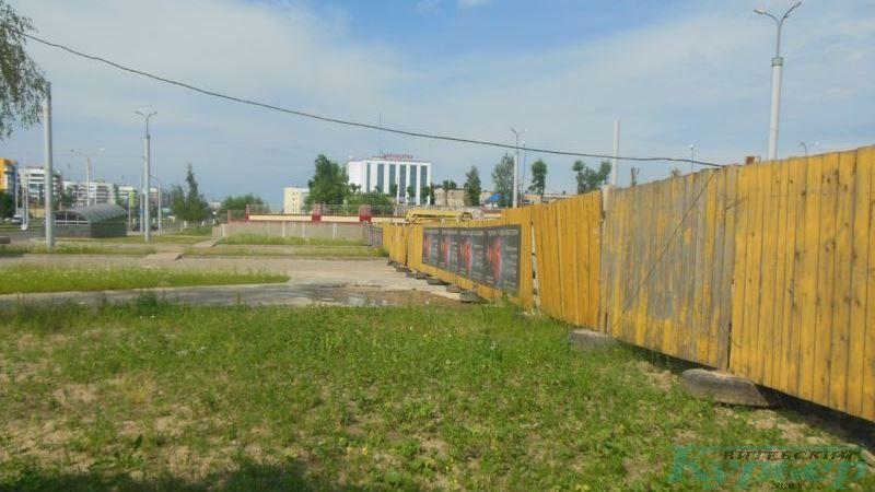 Забор со стороны проспекта Строителей