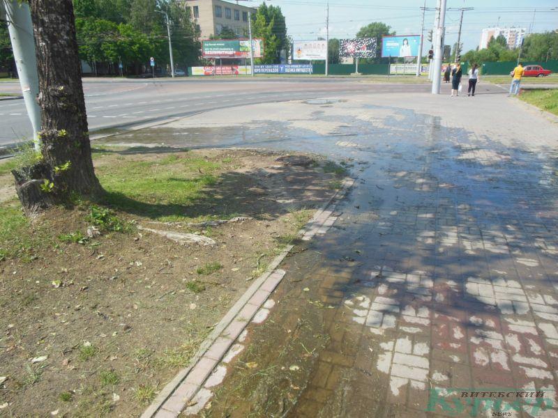 Вода на улице Терешковой
