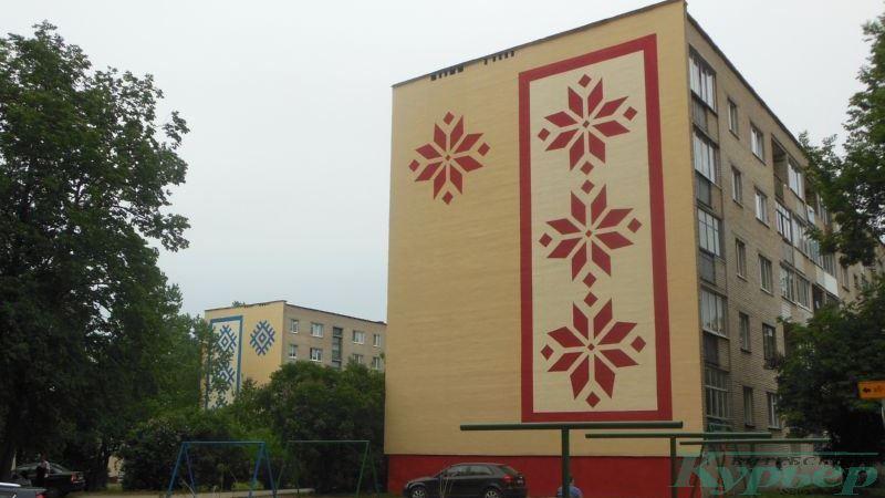 Орнамент на домах №№ 7 корпус 2 и 7 корпус 1 по Локомотивной улице