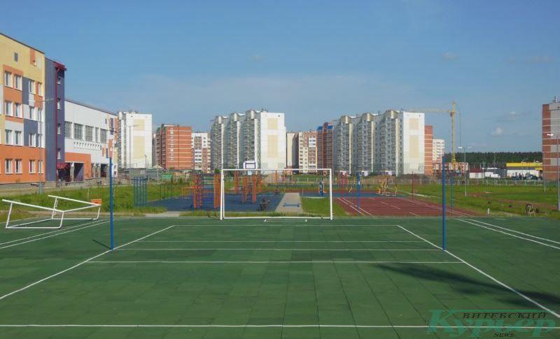Спортивные сооружения у школы