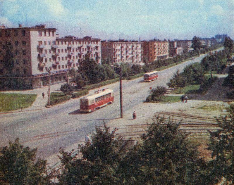 1974 год Трамвай на проспекте Фрунзе