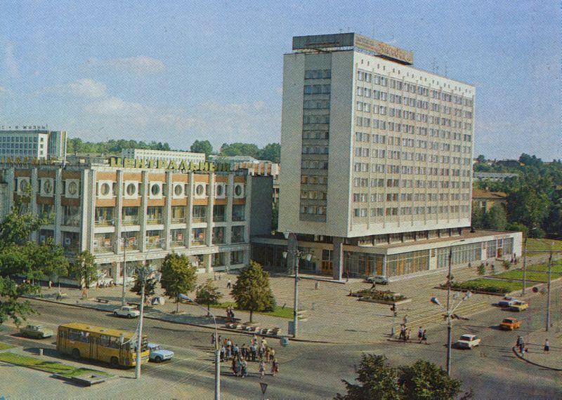 "1986 год. Гостиница ""Витебск"" и ЦУМ"