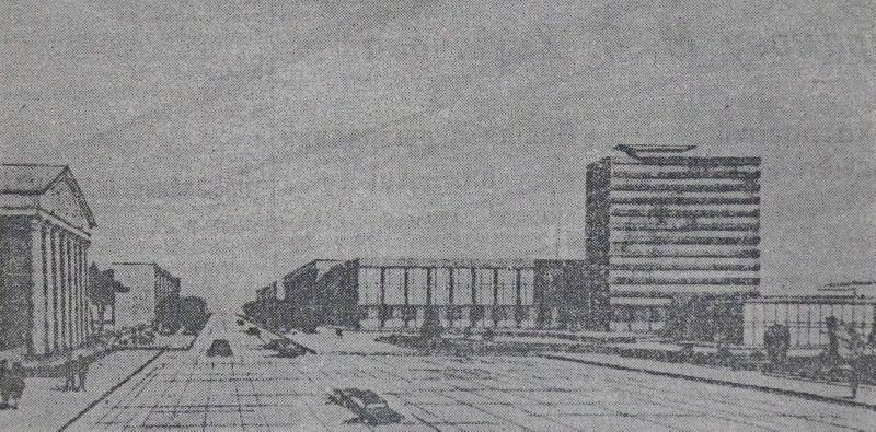 1962 год. Проект реконструкции Театральной площади и Замковой улицы