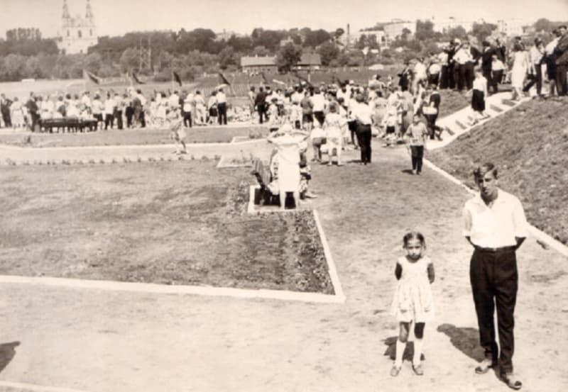 В парке имени 50-летия Советской власти. 1960-е годы