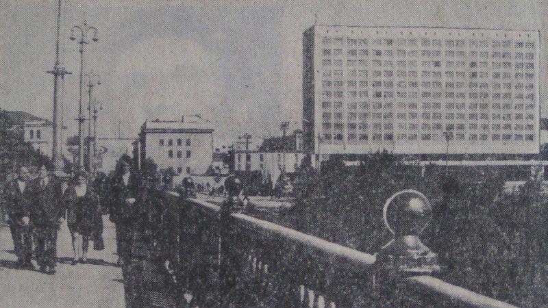 """1973 год. Гостиница """"Витебск"""" и старый корпус универмага"""