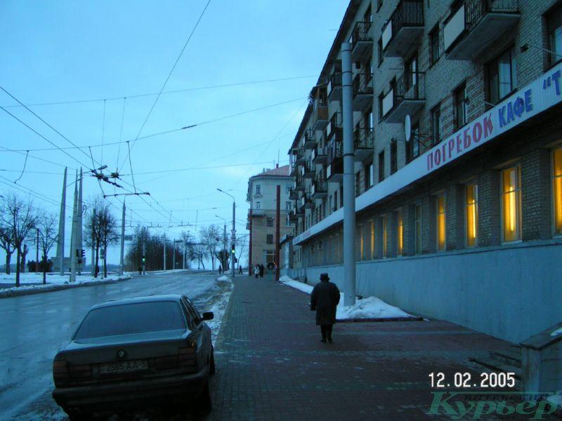 "2005 год. ""Фунтик"" и кафе на улице Жесткова"