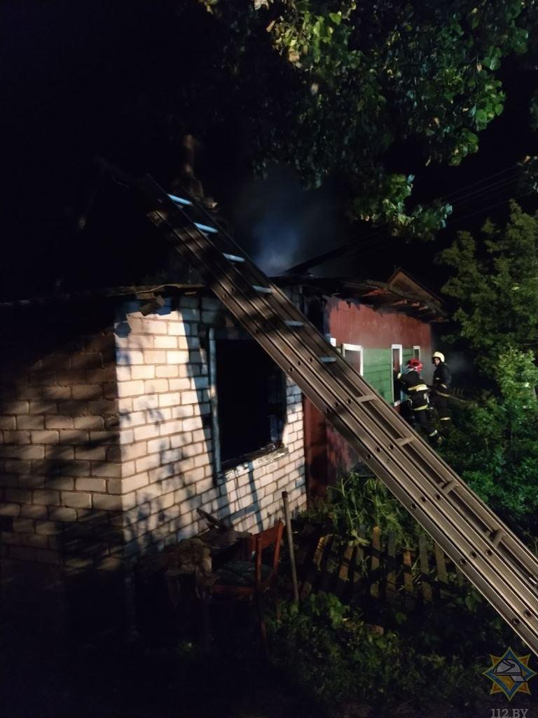пожар поставы дом