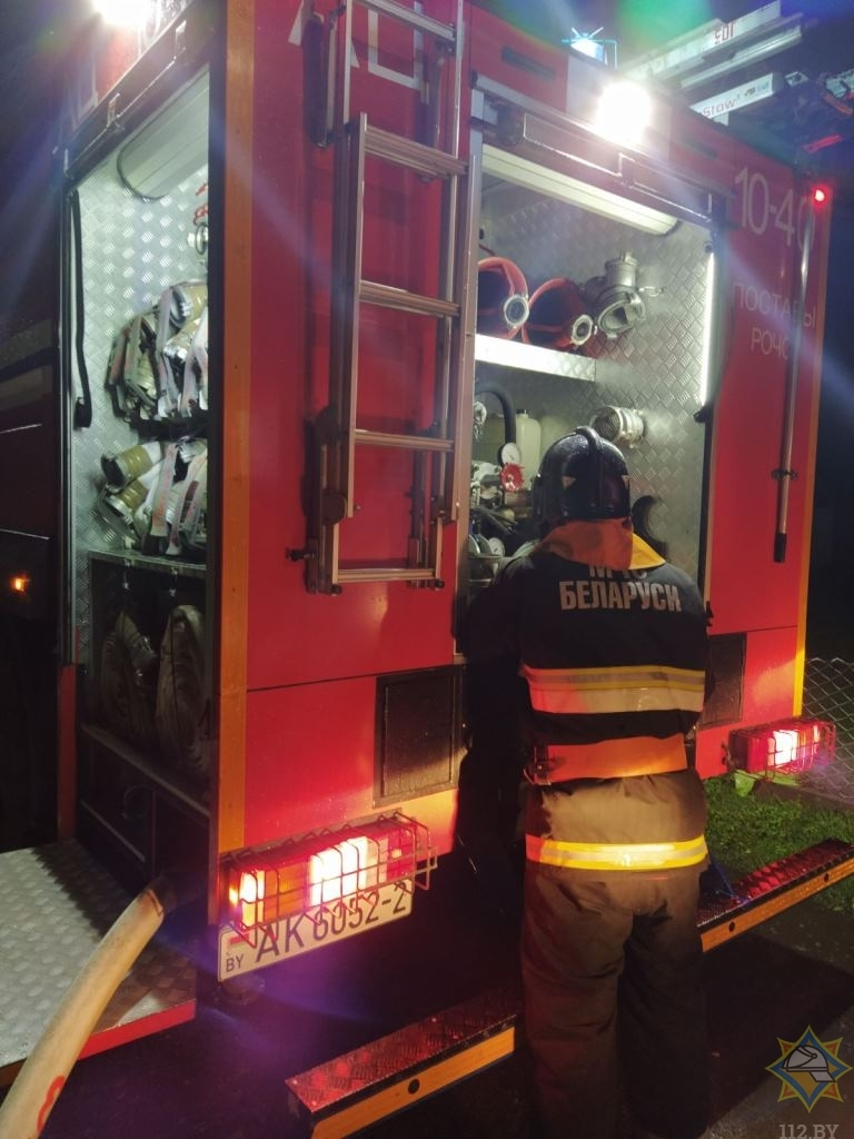 пожар поставы пожарная машина