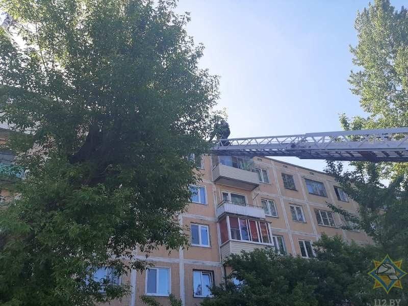 пожарные на пожаре в Витебске