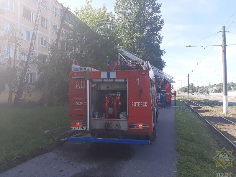 пожарная машина пожар в Витебске