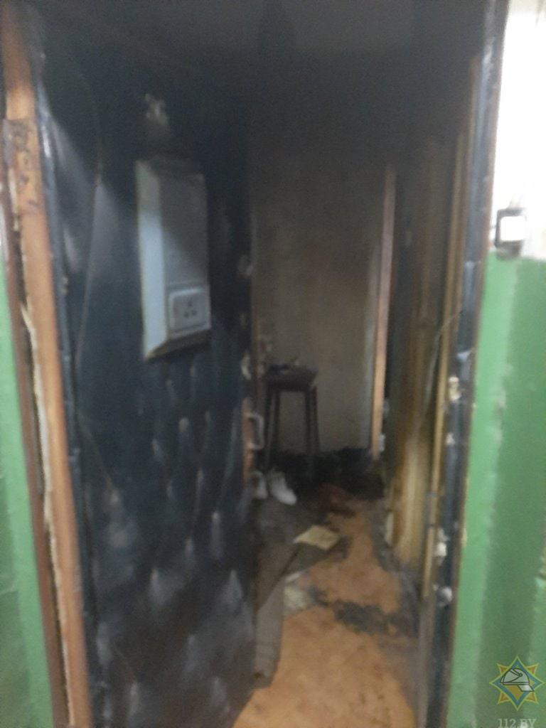 входная дверь в квартиру пожар