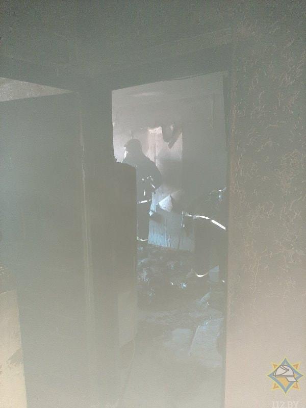 квартира во время пожара Витебск