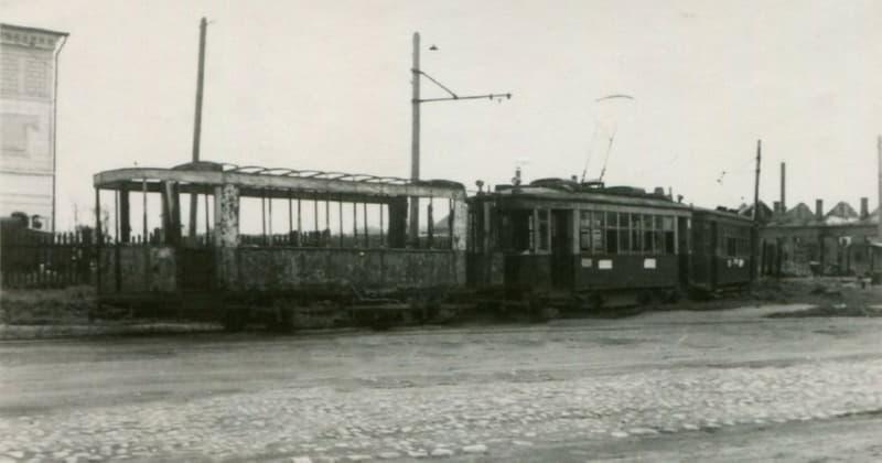 Трамвайное депо в Витебске в годы войны