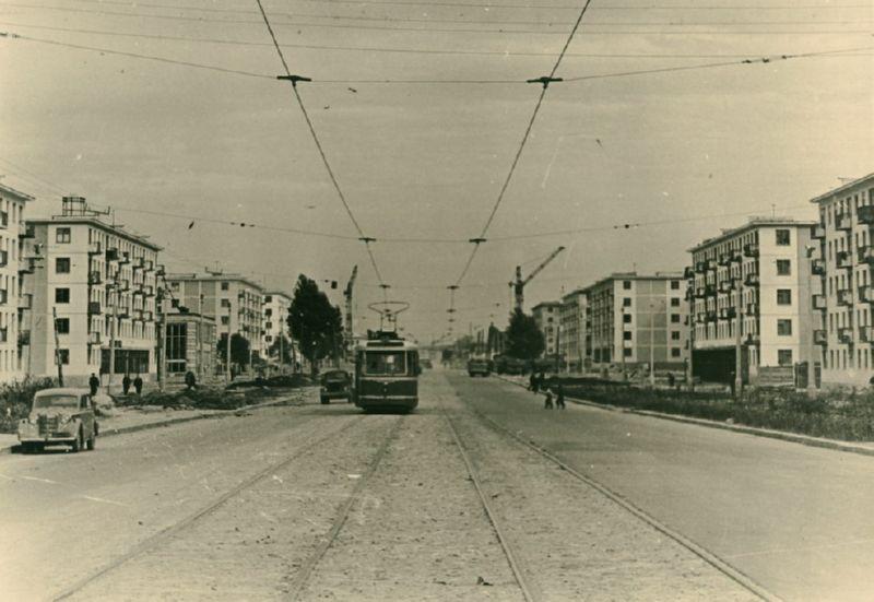 1962 год. Трамвай на проспекте Фрунзе
