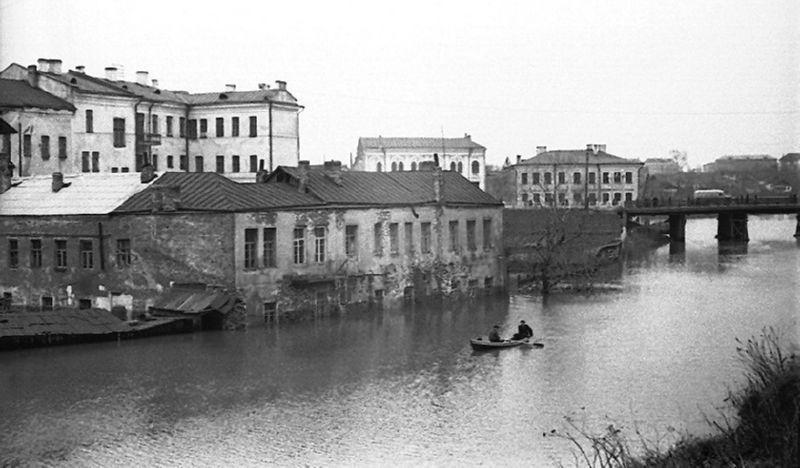 Набережная Витьбы в 1956 году