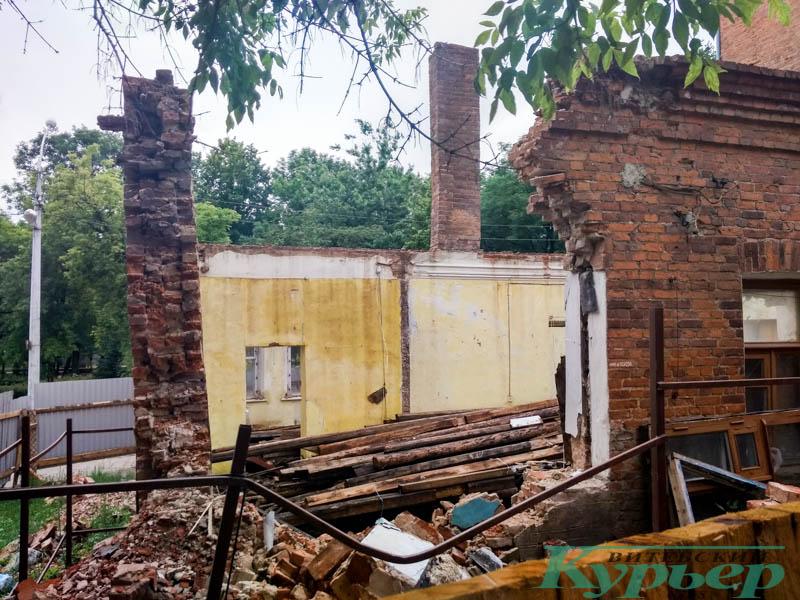 разрушенный дом в Витебске
