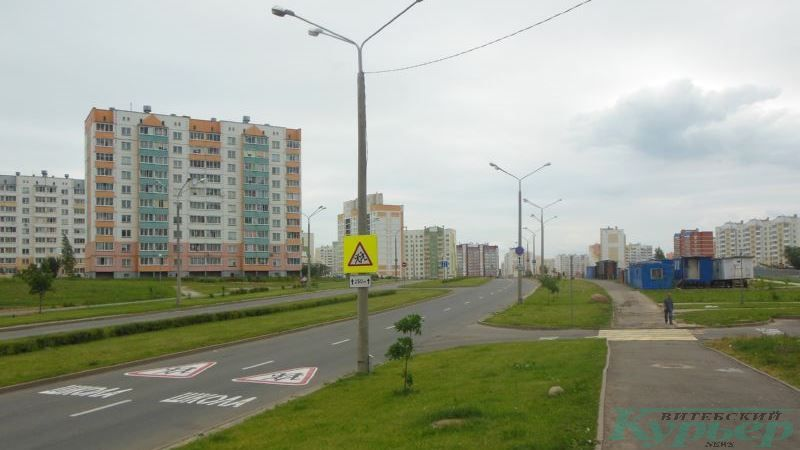 Разметка улицы Богатырева