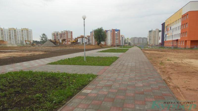 Пешехожная дорожка у новой школы в Билево-2