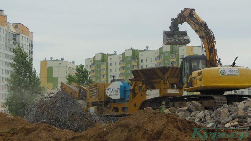 На месте строительного городка