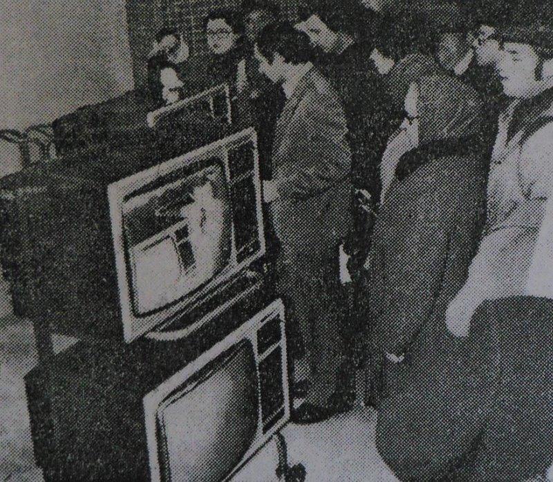 """Первые цветные телевизоры """"Витязь"""" в магазине """"Электрон"""""""