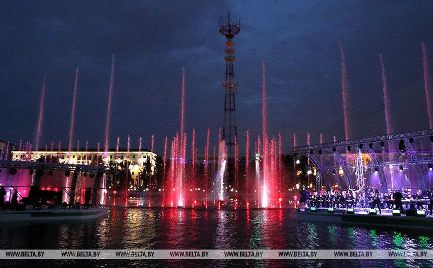 цветомузыкальный фонтан Минск