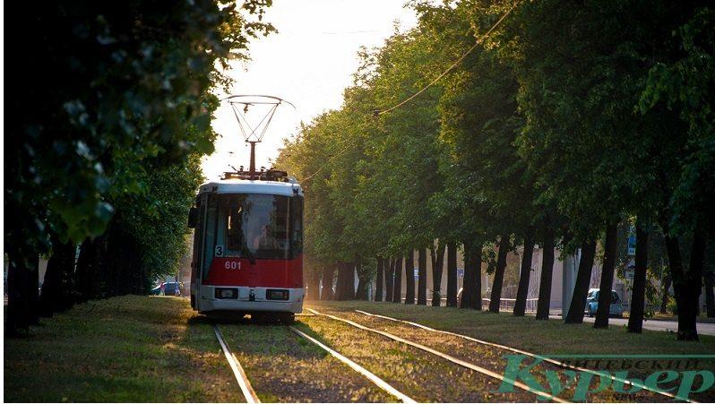 трамвай на улице Чапаева в Витебске