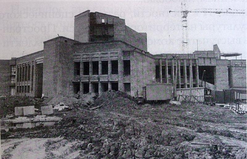 Строительство Дворца культуры легкой промышленности
