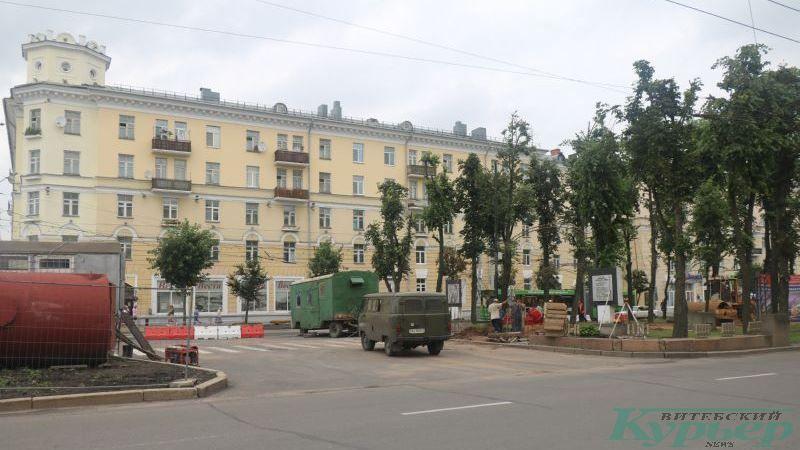 Бывший разворот троллейбусов на улице Кирова
