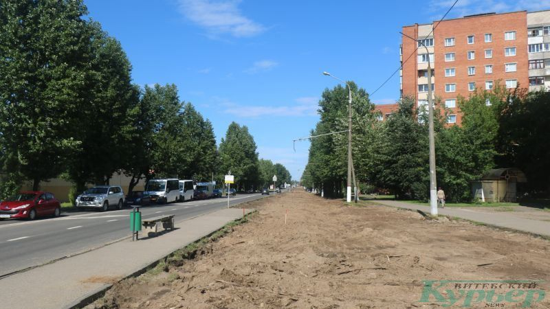 Снятое трамвайное полотно на улице Гагарина