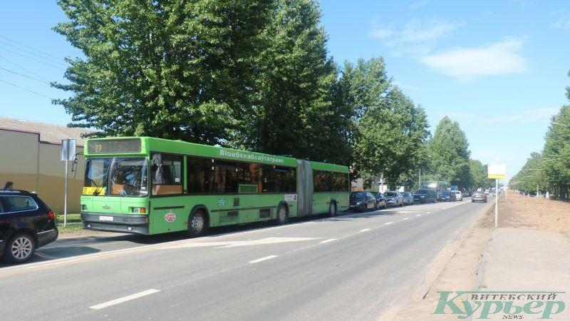 Транспортный затор на улице Гагарина