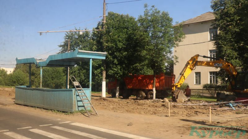 Снос трамвайной остановки на улице Осипенко