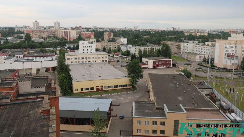 Вид на район улицы Правды с 14 этажа
