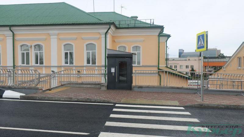Лифт для инвалидов и пешеходный переход