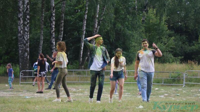 На фестивале красок