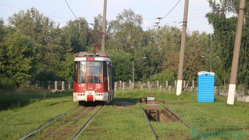 Трамвай на кольце в Журжево