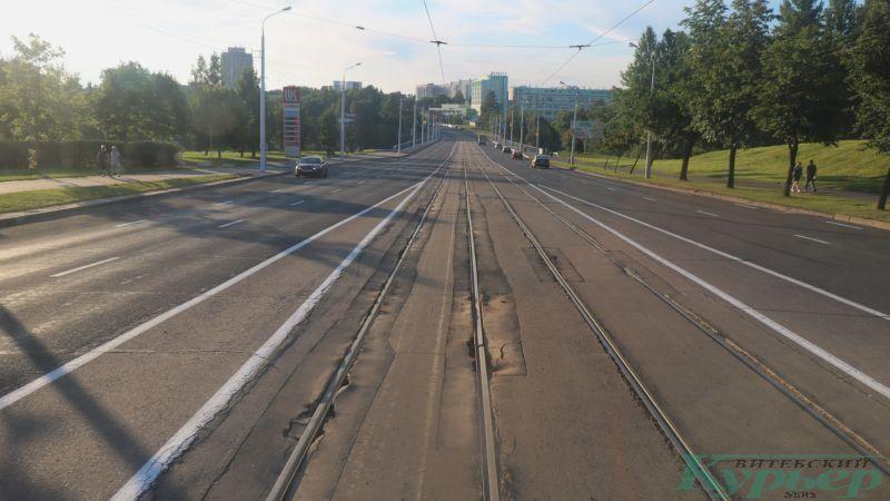 Трамвайный спуск к Юбилейному мосту
