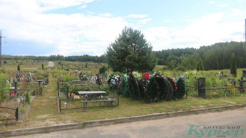 Ряд новых могил на кладбище Копти