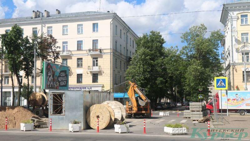 Перекрытый проезд с улицы Димирова