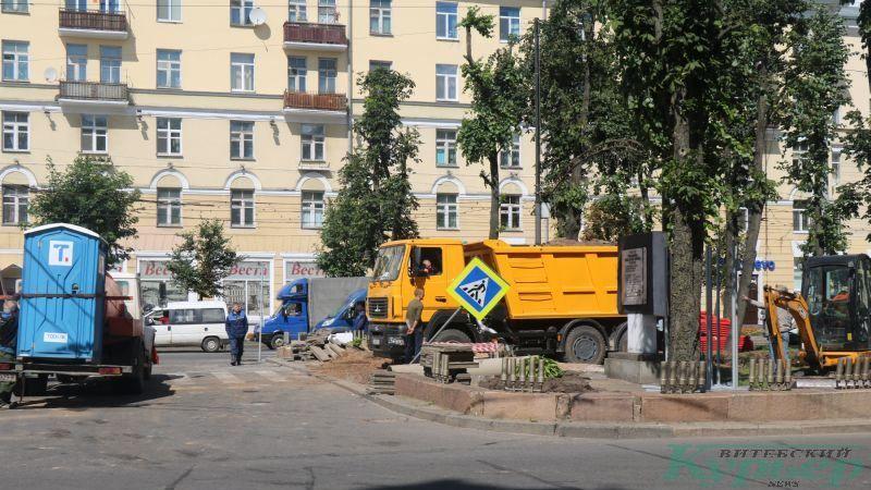 Перекрытый бульвар со стороны Привокзальной площади