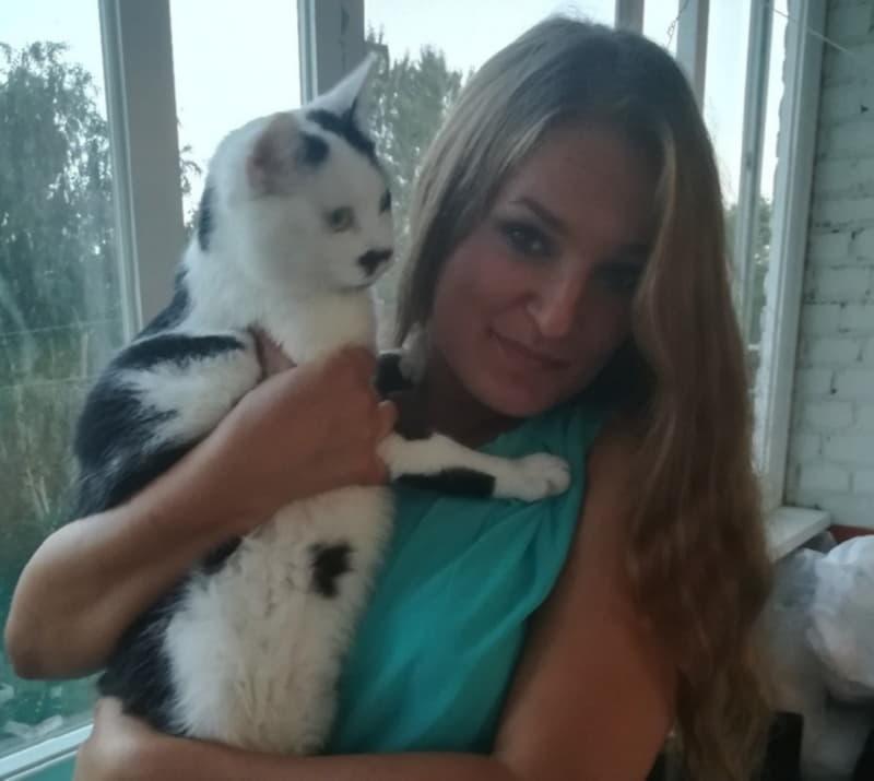 Котик с хозяйкой