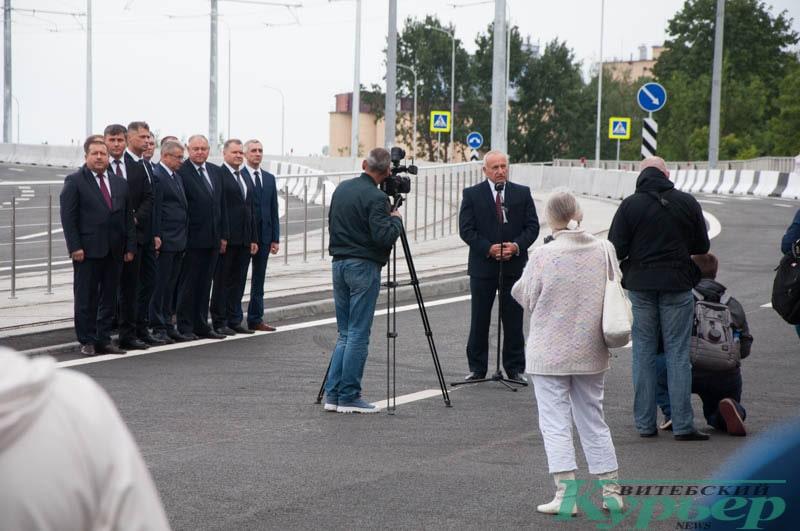 чиновники на открытии полоцкого путепровода