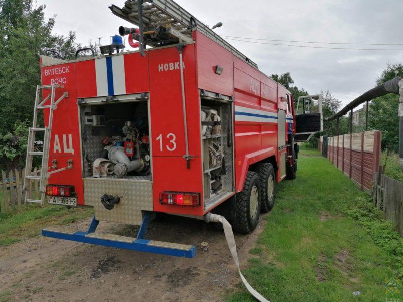 пожар в Витебском районе