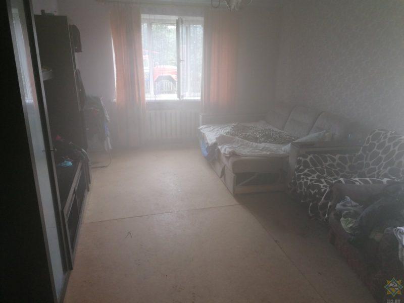 пожар задымлённая омната