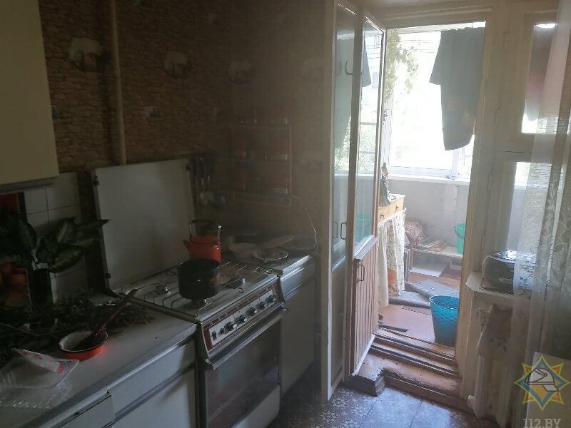 пожар в Витебске задымление в квартире