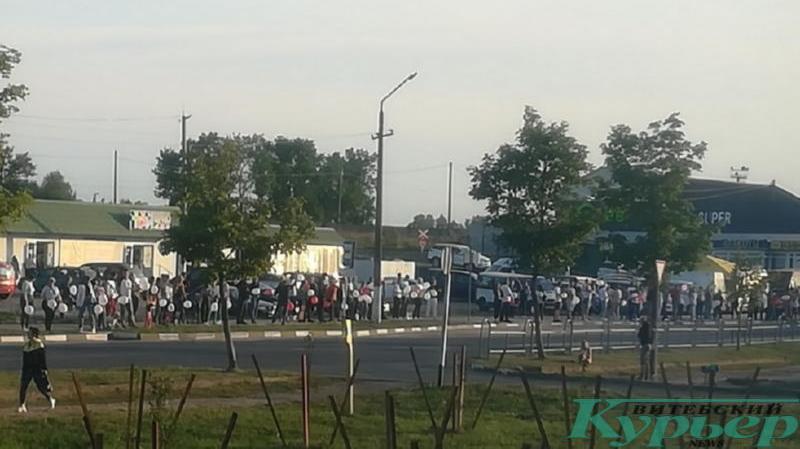 Акция протеста в Лепеле